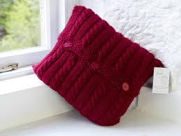 Knit Cushion Cover Pattern Cable Cushion Cover Chunky Pattern New Lanark Wool And Textiles