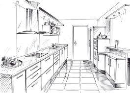 dessiner cuisine dessiner en perspective une cuisine comment lire un plan