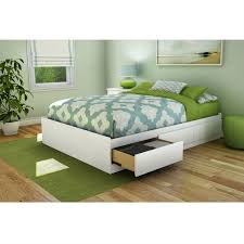 bedroom frame full size platform and headboard white light up