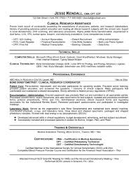 Accounts Receivable Resume Template Clinical Research Coordinator Resume Sample Resume For Your Job