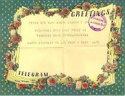 happy birthday telegrams telegram from 1951 vintage cool vintage telegrams