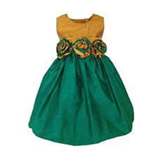 amazon com aby u0027s kids girls silk gold top and emerald skirt with