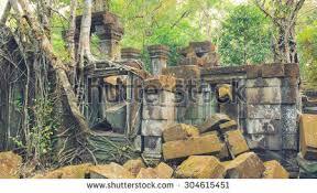beng mealea temple ruines middle jungle stock photo 269056628