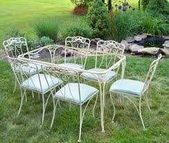 Antique Iron Patio Furniture Wrought Iron Table And ChairsWrought - Antique patio furniture