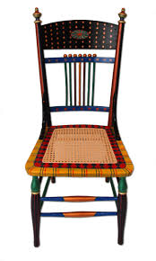 hand painted chairs custom hand painted furniture with a bright