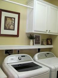 Laundry Room Cabinets With Hanging Rod Laundry Room Ideas Cabinet Shelf And Hanging Rod I Like This