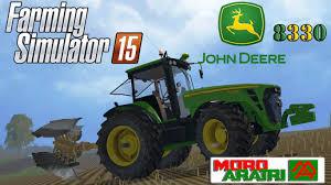 john deere tractor game 8335r john deere tractor john deere l la new holland t6 john deere farming simulator 15 plowing with john deere 8330 and moro raptor
