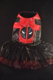 Halloween Costumes Deadpool Deadpool Inspired Custom Dog Costume Small Breed Dogs