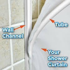 Shower Water Dam Stopper Kits Shower Curtain Sealer Staydry Systems