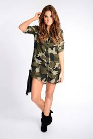 binky camo shirt dress in the style in the style com
