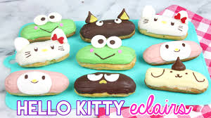 how to make hello kitty eclairs youtube