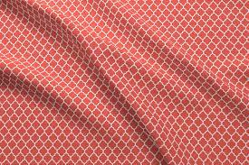 Home Designer Pro Lattice Moroccan Quatrefoil Lattice In Coral Fabric Spacefem Spoonflower
