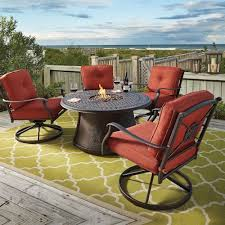 Patio Fire Pit Table Signature Design By Ashley Burnella 5 Piece Outdoor Fire Pit Set