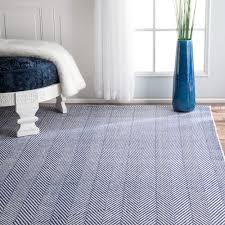 nuloom handmade flatweave herringbone chevron navy cotton rug 5