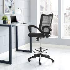 modway project drafting stool in eei 2287 blk home depot