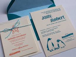 wedding invitations new zealand kate rob s sea creature letterpress wedding invitations