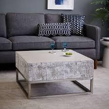 concrete coffee table for sale concrete chrome coffee table west elm