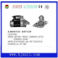 toyota corolla auto parts 28100 16041 toyota corolla auto starter motor global sources