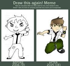 Ben 10 Meme - ben 10 redraw meme by demon0fanime on deviantart