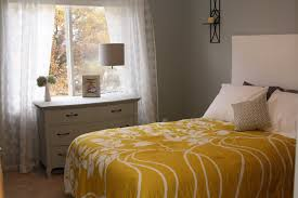 decorating the dorchester way gray and yellow guest room reveal