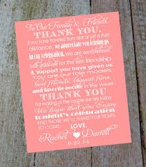 Card For Groom From Bride Custom Wedding Thank You Card With Bride And Grooms Name U0026