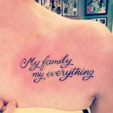 family quote ideas 33 fabulous collar bone tattoos that