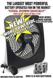 battery operated fans large battery operated fan for blackouts emergencies or even
