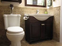 bathroom oak wooden cabinet design ideas with half bathroom ideas