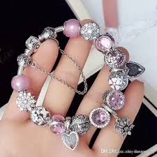 luxury charm bracelet images Best 2018 luxury gifts diamond beads charm bracelets for wedding jpg