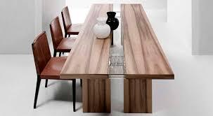 contemporary dining table oak american walnut rectangular