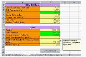 Amortization Calculator Excel Template Calculation With Excel Npv Irr Ebit Amortization And More