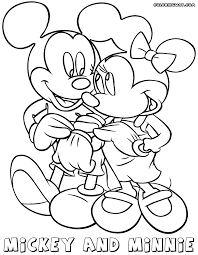 mickey minnie coloring pages coloring pages download