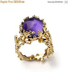 black friday ring sales black friday sale coral 14k gold amethyst ring purple amethyst