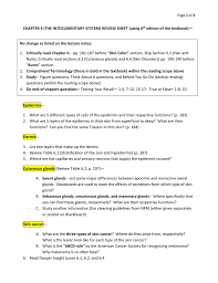 chapter 6 the integumentary system review sheet using 6