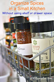 How To Organise A Small Kitchen - how to organize spices in a small kitchen