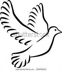 free flying white dove sketch style stock vector 563544613