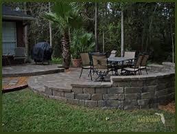 Raised Patio Construction Jacksonville Backyard Hardscapes Landscapes Ecoscapes