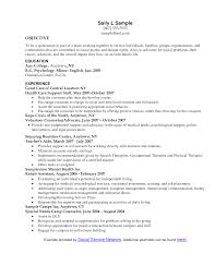 human services resume templates resume objective for human services starengineering