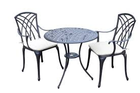 Aluminium Bistro Table And Chairs Bentley Garden Cast Aluminium Garden Patio Bistro Set Table And 2