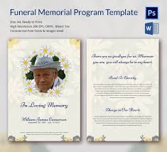 memorial program templates 5 funeral memorial templates free word pdf psd documents