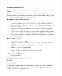 Social Media Manager Resume Sample by Brand Manager Job Description Social Media Assistant Job