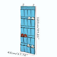 favorable 20 pockets space door hanging shoes organizer mesh