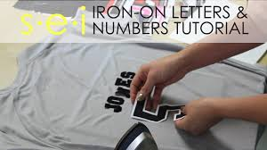 diy team shirt jersey numbers and letters sei crafts youtube