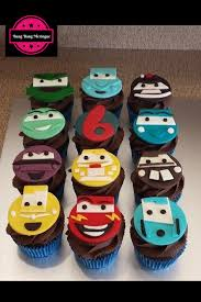 cars cake toppers cars cupcakes lightening mcqueen fondant cupcake toppers
