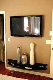 Speaker Wall Mounts Shelves Hubby Built Modern Shelves To Wall Mount Under Tv He Is