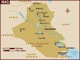 map of irak map of iraq