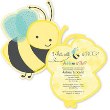 what will it bee baby shower what will it bee gender reveal shaped baby shower invitations