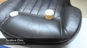 how to fix cut in leather sofa a ordable repairing leather furniture scratches scuffs in youtube