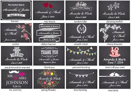 wedding backdrop design malaysia chalkboard wedding personalized matches 50 pcs personalized