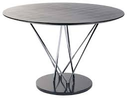 Dining Table Modern Round Eurostyle Stacy Pedestal Round Dining Table W Black Marble Base